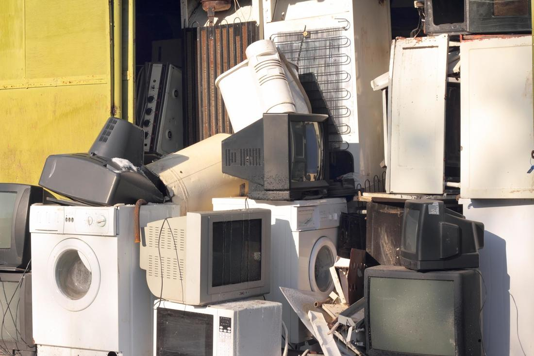 This is a picture of a electronics recycling.